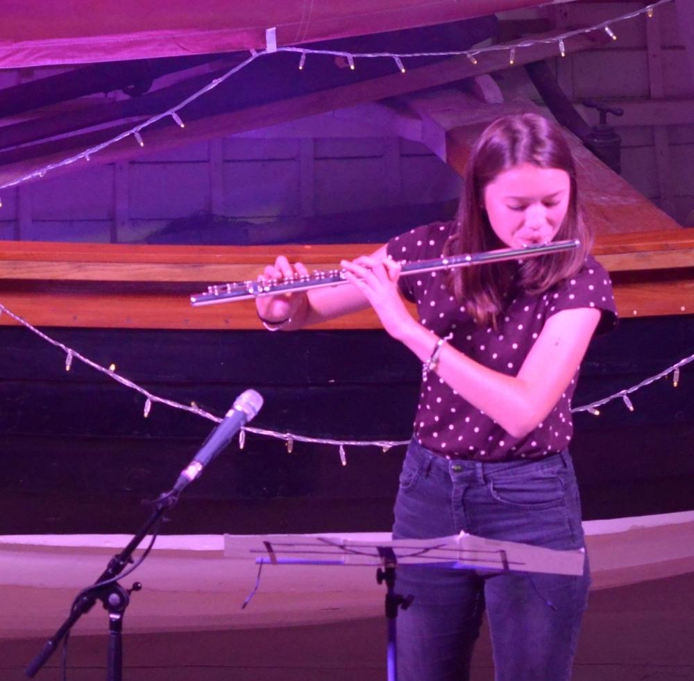 Flautist Ana Laing from Paris.