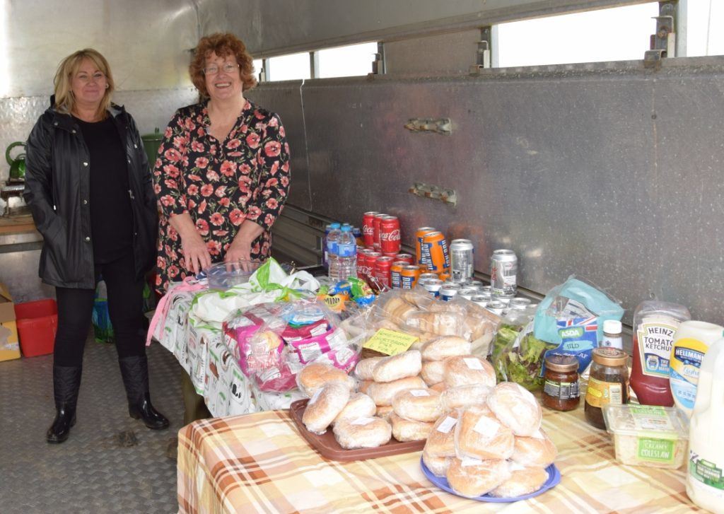 Linda Crosthwaite and Lorraine MacPhail turned a stock box into a catering truck for the day. 50_c31ploughing07_food stall
