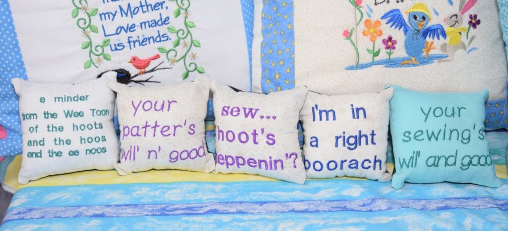 There were a number of localised products at Kate's Krafts, with Kintyre specific lingo. 50_c39crafters03_wee toon crafts