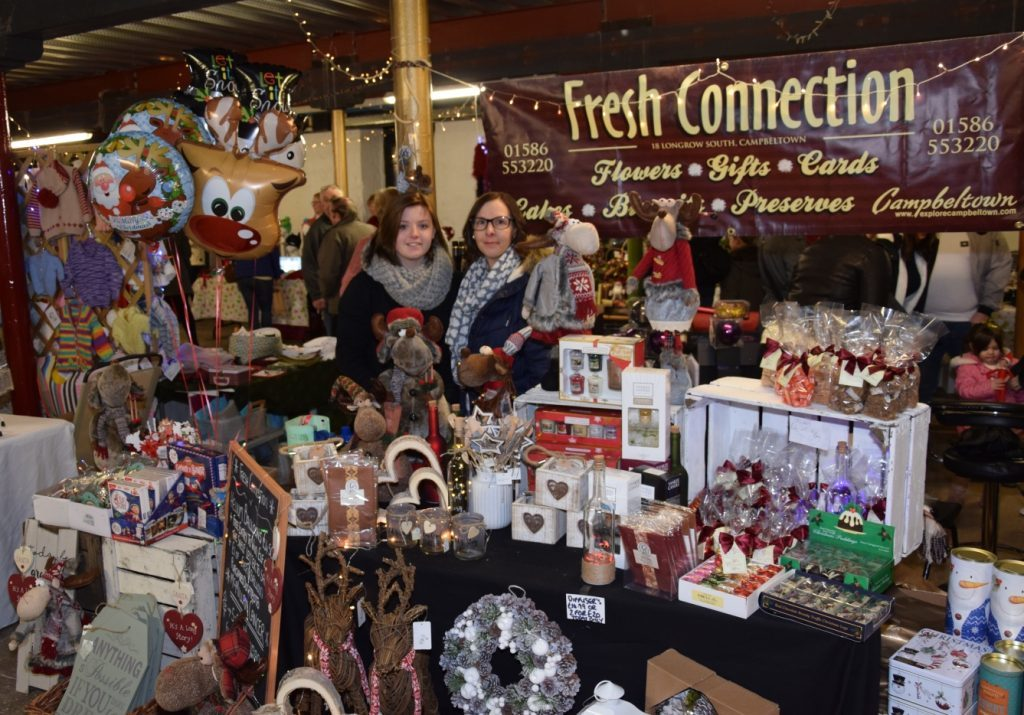 Niamh and Hayley Baxter ran Fresh Connection's stall, containing many gifts. 50_c48market02_fresh connection