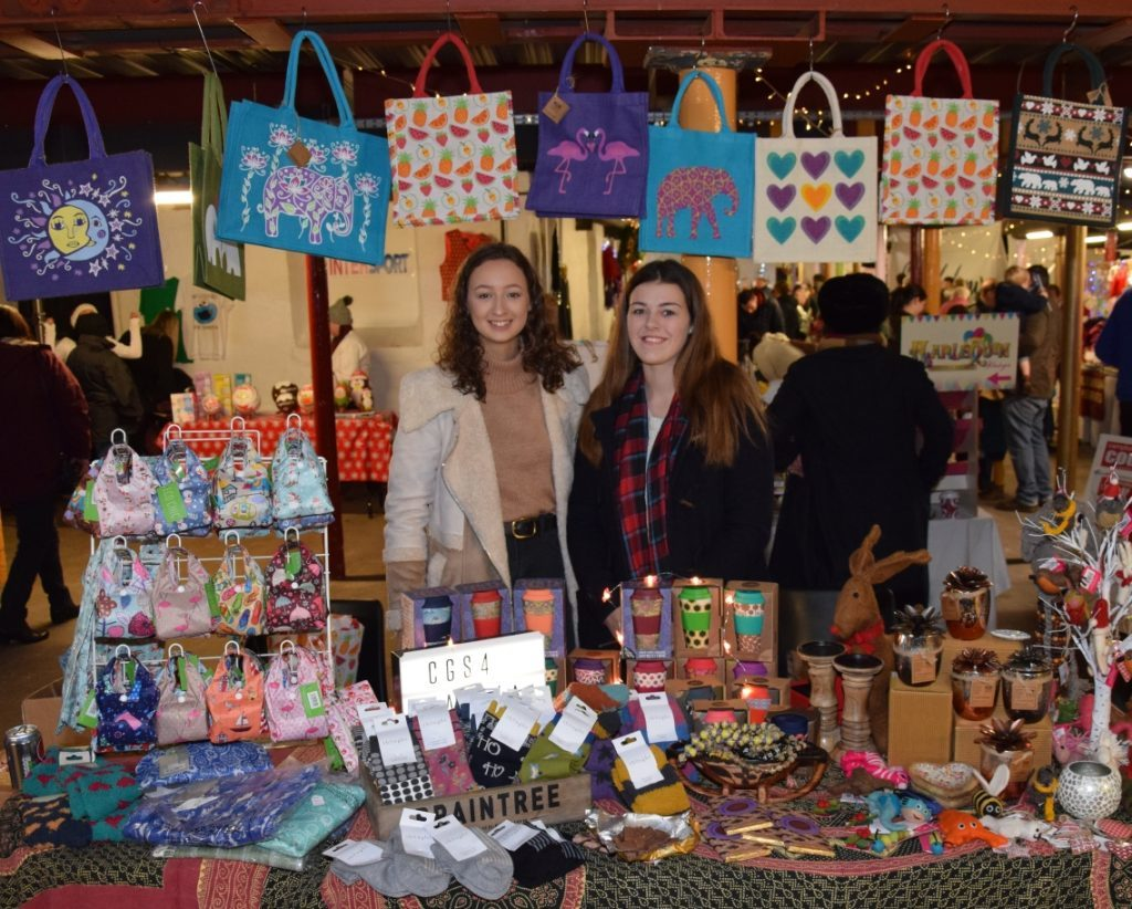 Louise Dott and Nicola Thomson worked hard selling products for CGS4Gambia. 50_c48market07_cgs4gambia