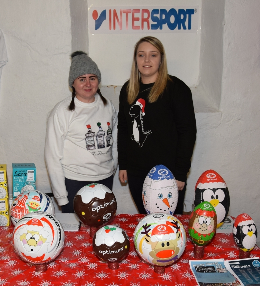 The Wee Toon Sports stall, manned by Nicola Blackstock and Kathleen McMillan, sold a range of festive football and rugby balls. 50_c48market10_wee toon sports