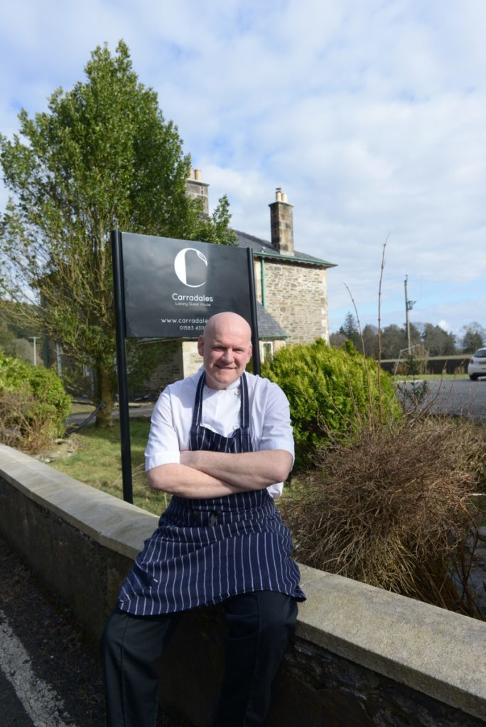 Chef Steve Reed outside Carradales.