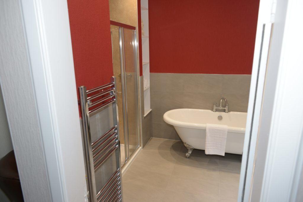 The free standing bath in Tarbert bedroom,