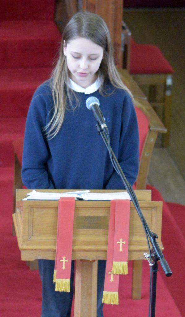 Iona Renton read the third lesson