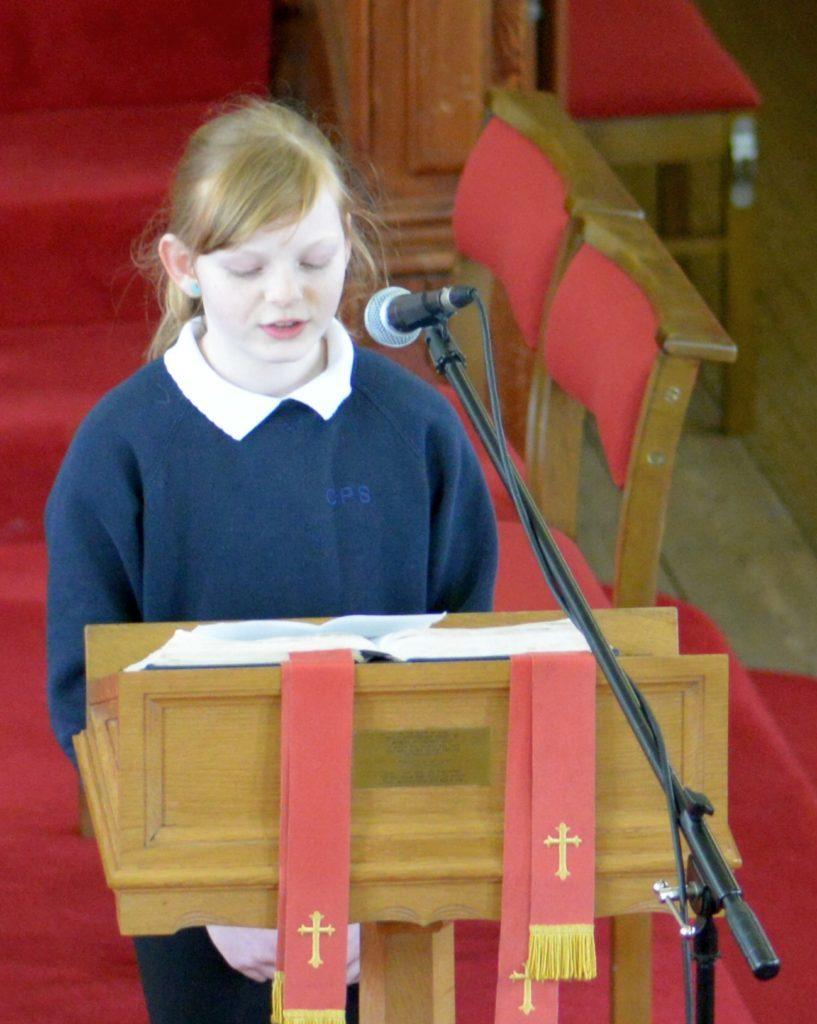 Hannah McCaig read the last lesson