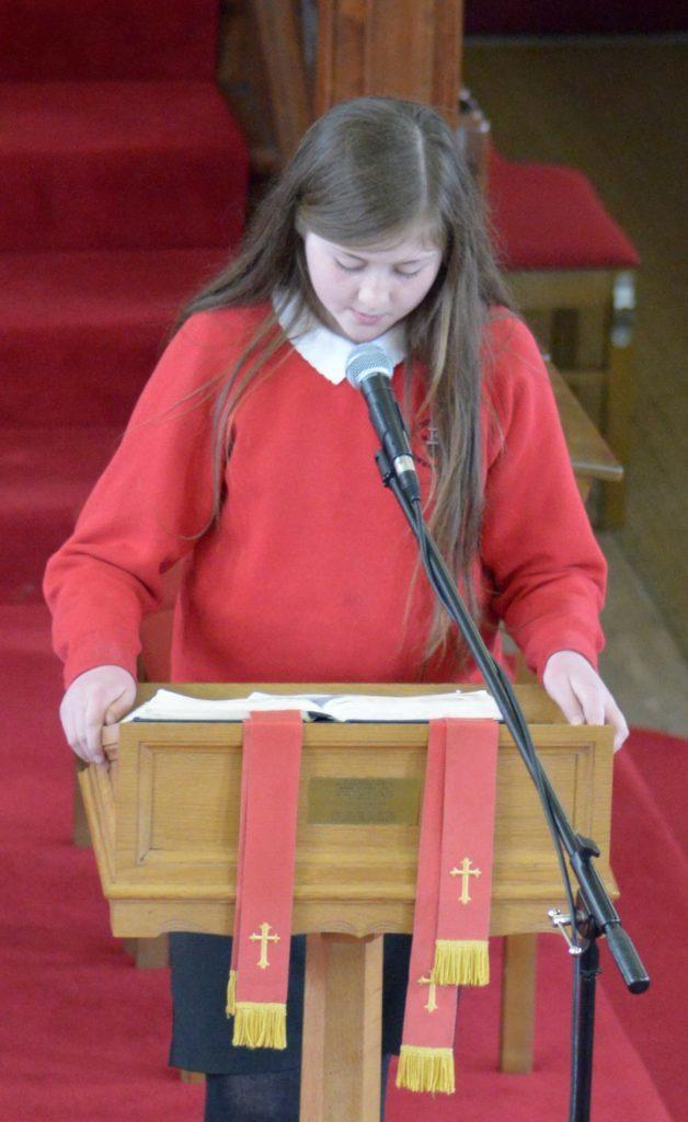 Hannah Jackson read the first lesson.