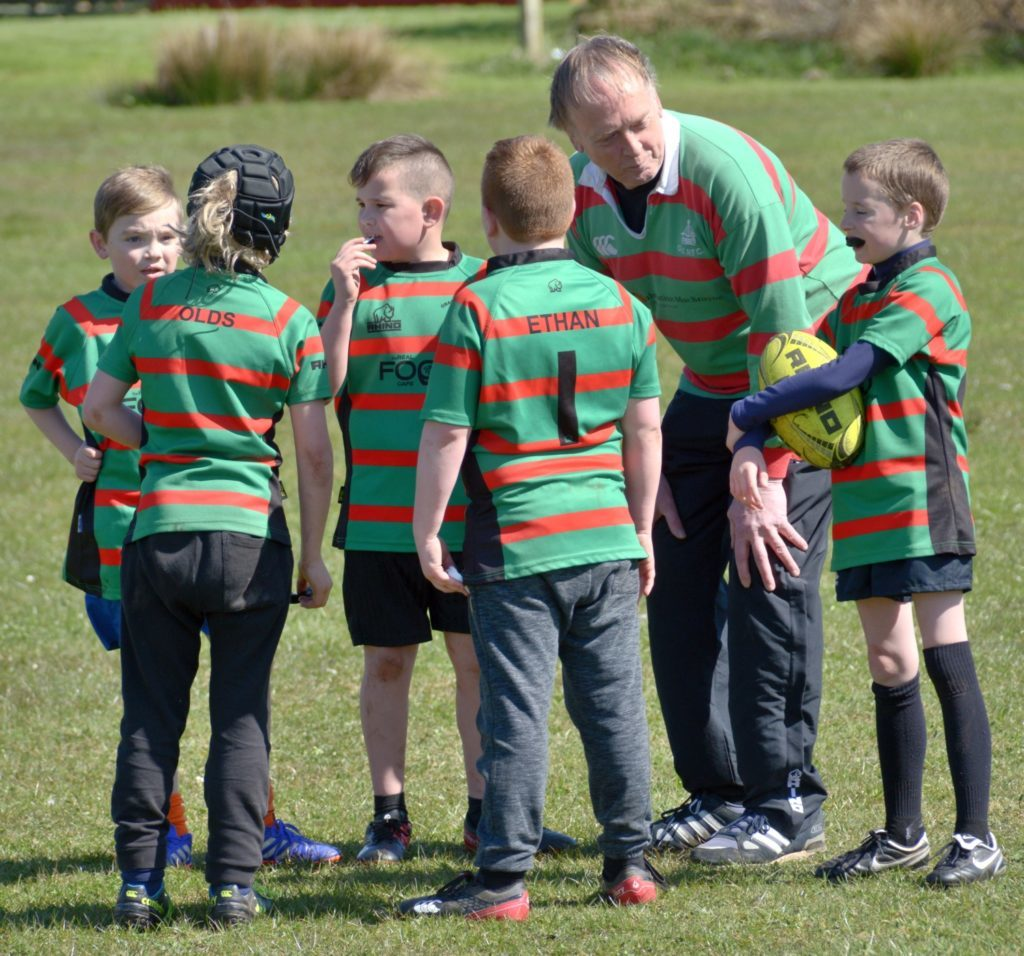 Coaching tips for Oban mini-rugby players.
