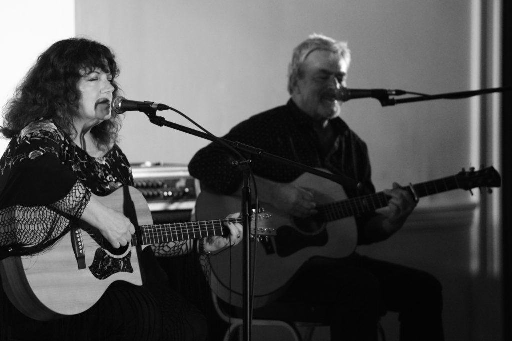 Judith Jones with David Bissett.