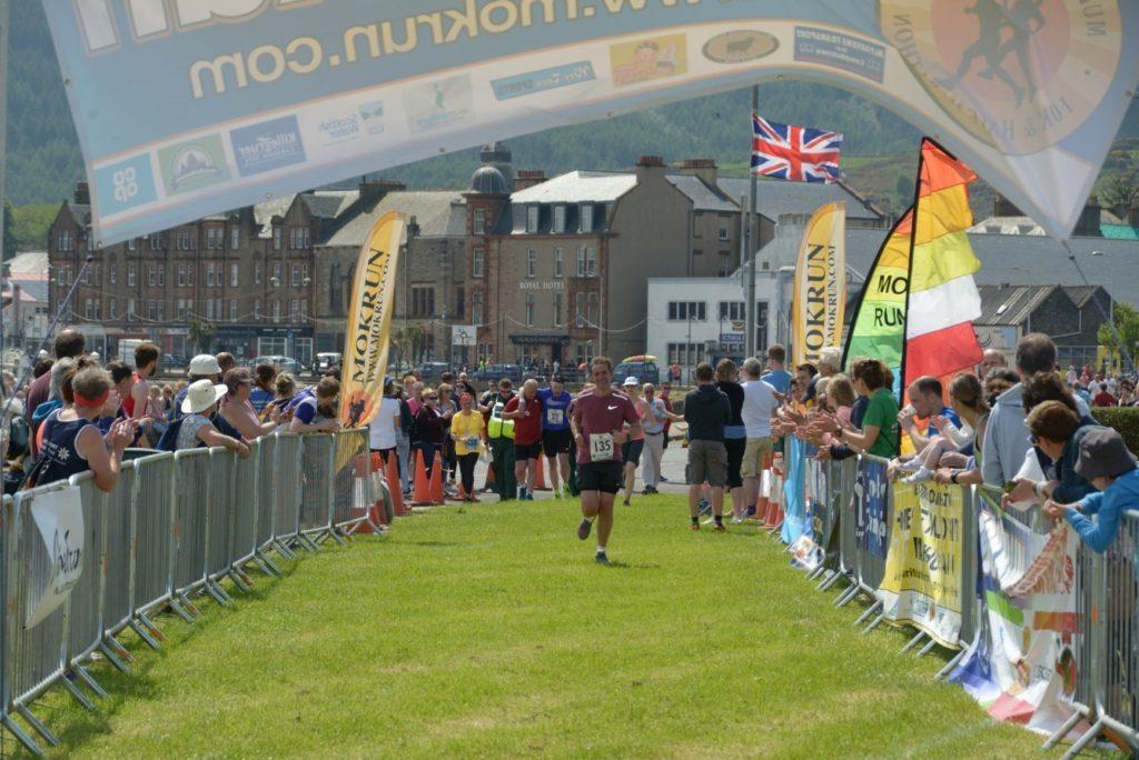 Jamie McIvor  nears the line.