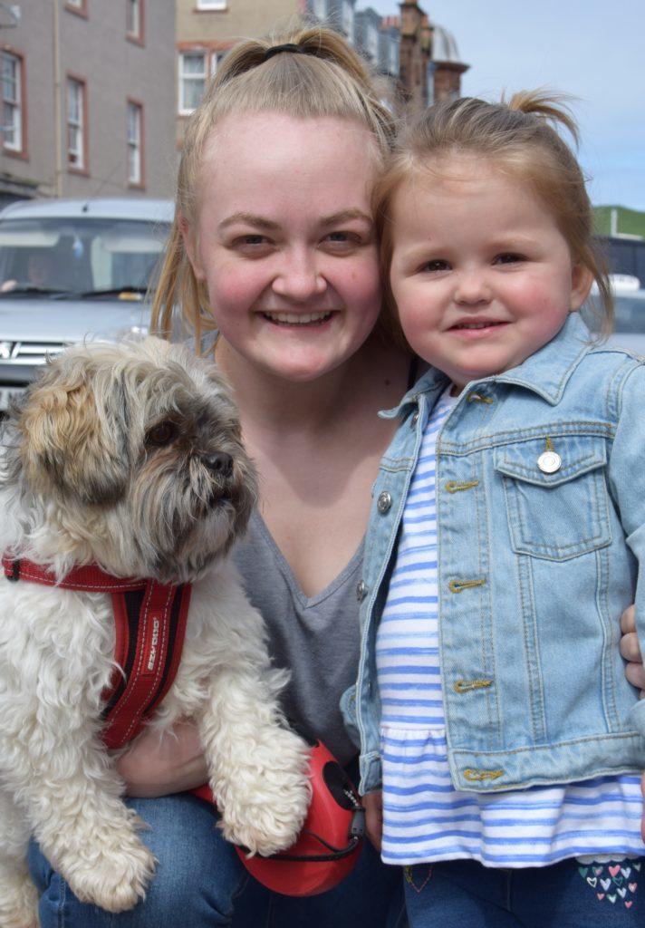 Eve Gaughan, Brook and dog Travis.