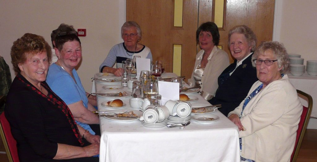 From left, Jane McCorkindale, Ann McIntyre, Margaret McLean, Jennifer McCorkindale, Anne Love and Christine Ropper, enjoyed their evening.