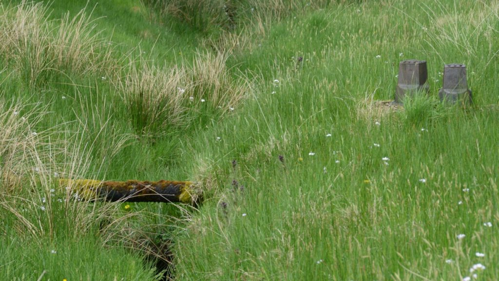 The former water supply pipe from Killypole Loch to MACC.