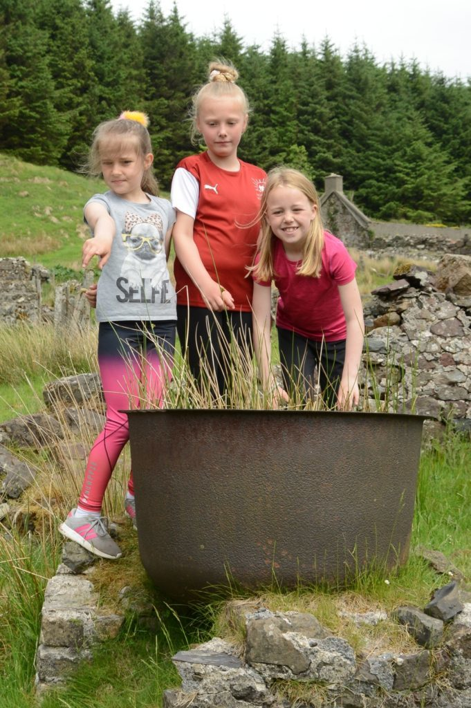 The girls were told this was the washtub for Killypole cottage.