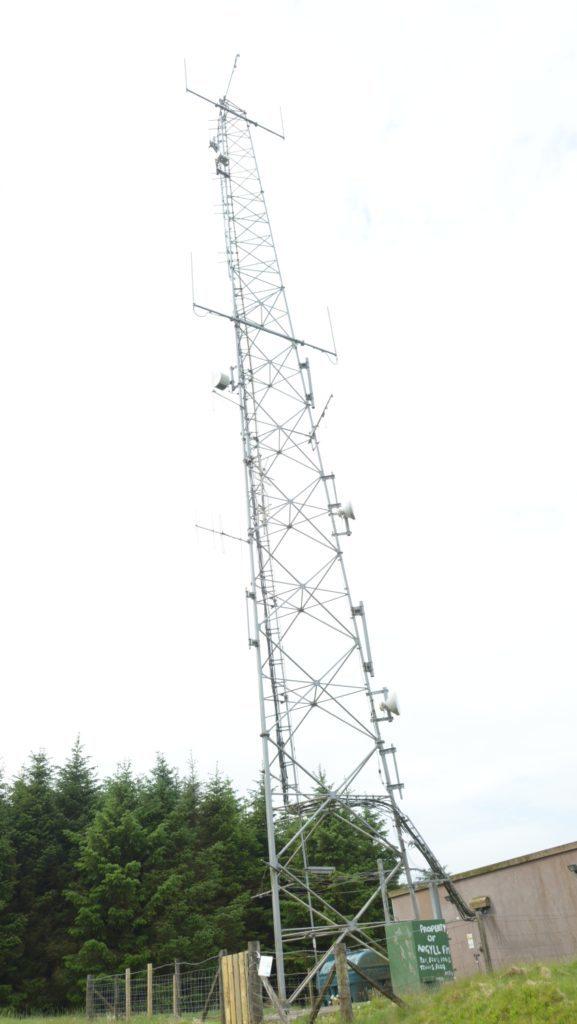 The radio mast.