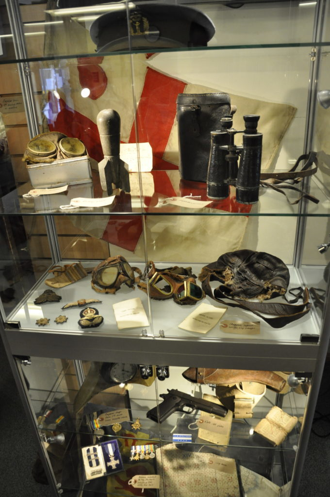 One of the cabinets featuring Jim Struthers' belongings. 16_t30_FirstWorldWar02