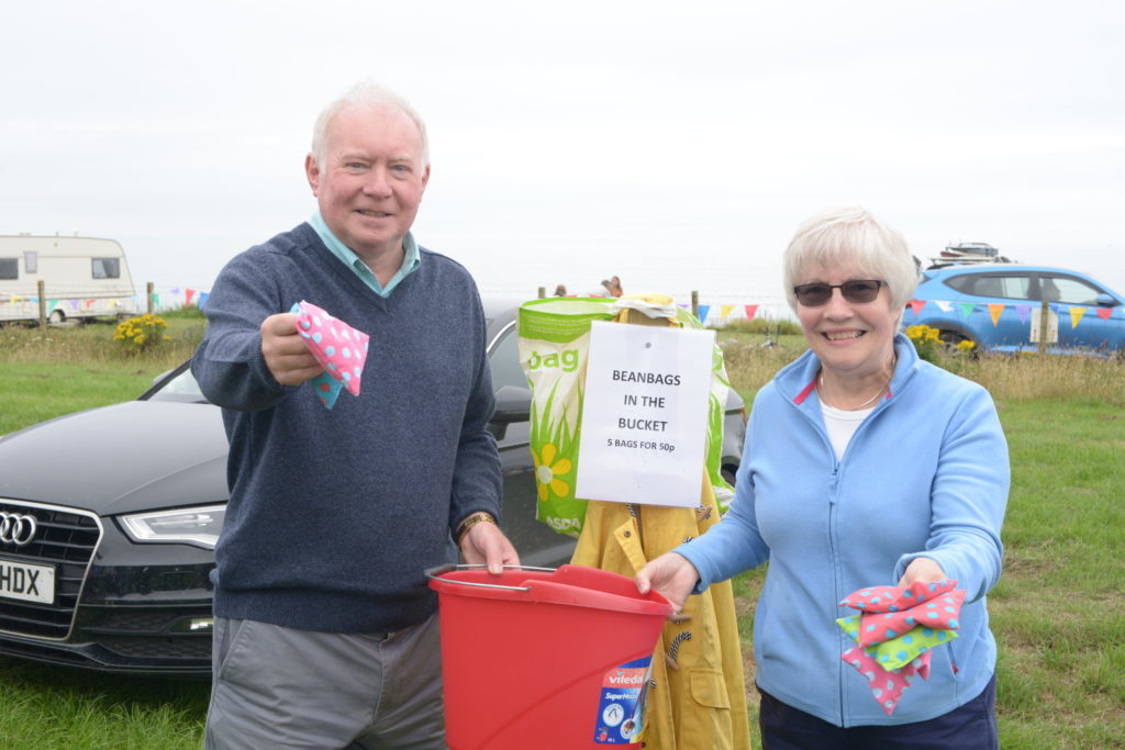 ​Calum and Margaret Morrison ran the beanbags in a bucket stall. 25_c30funday05