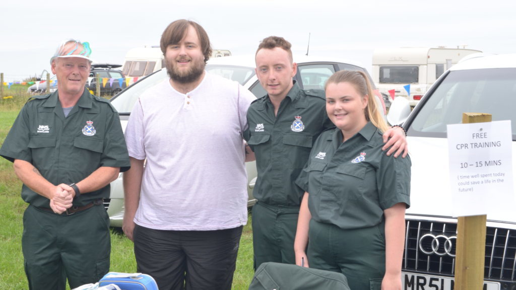 ​Running the CPR stand from left were Stephen McSorley, Adam Smith, Michael McSorley and Lisa McSorley. 25_c30funday07