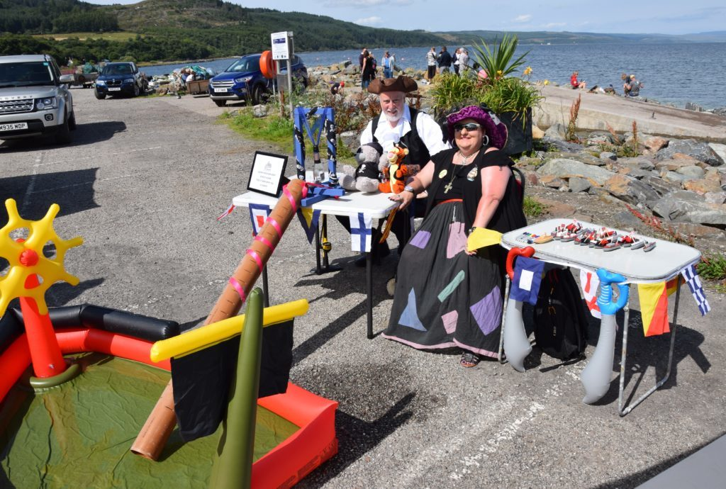 Bruce McQuarrie and Kim Norton manned the 'launch your own boat' stall.