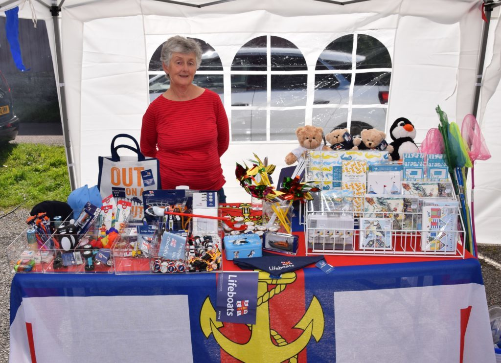 Hilary Lord kept the RNLI stall afloat.