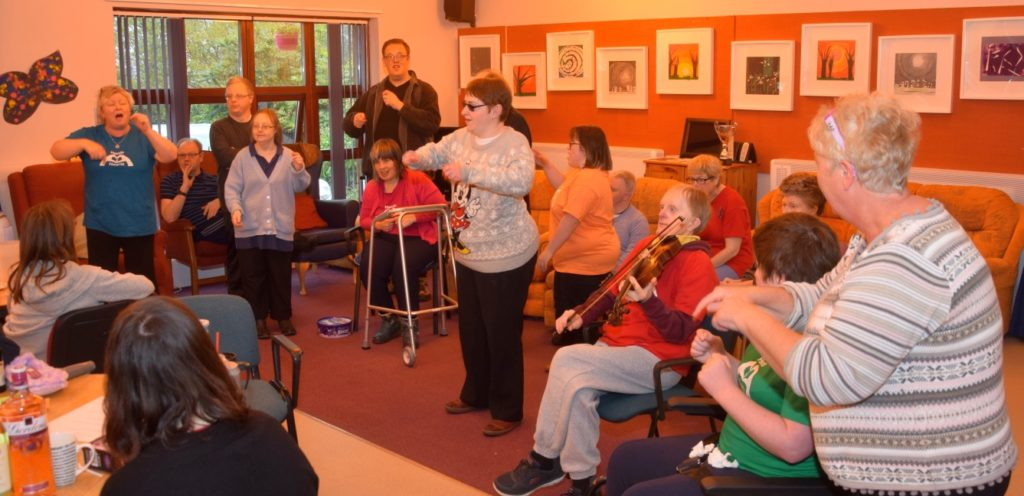 Music group Hands and Hearts performs This Is Me complete with Makaton sign language.