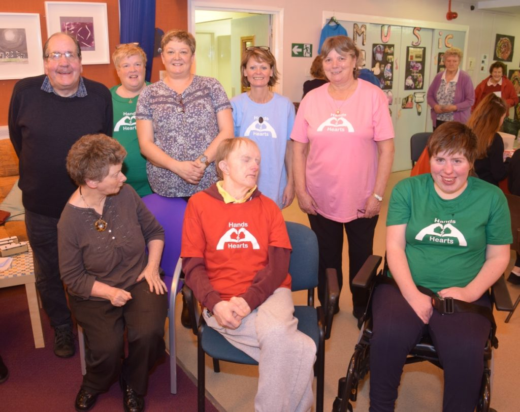 Back row, from left: Neeni Macdougall, unit manager Ann Anderson, Catherine Grogan, senior Lucy McLafferty and Isobel Gordon. Front: Jean Tear, Donald Chilton and Julie Galbraith.