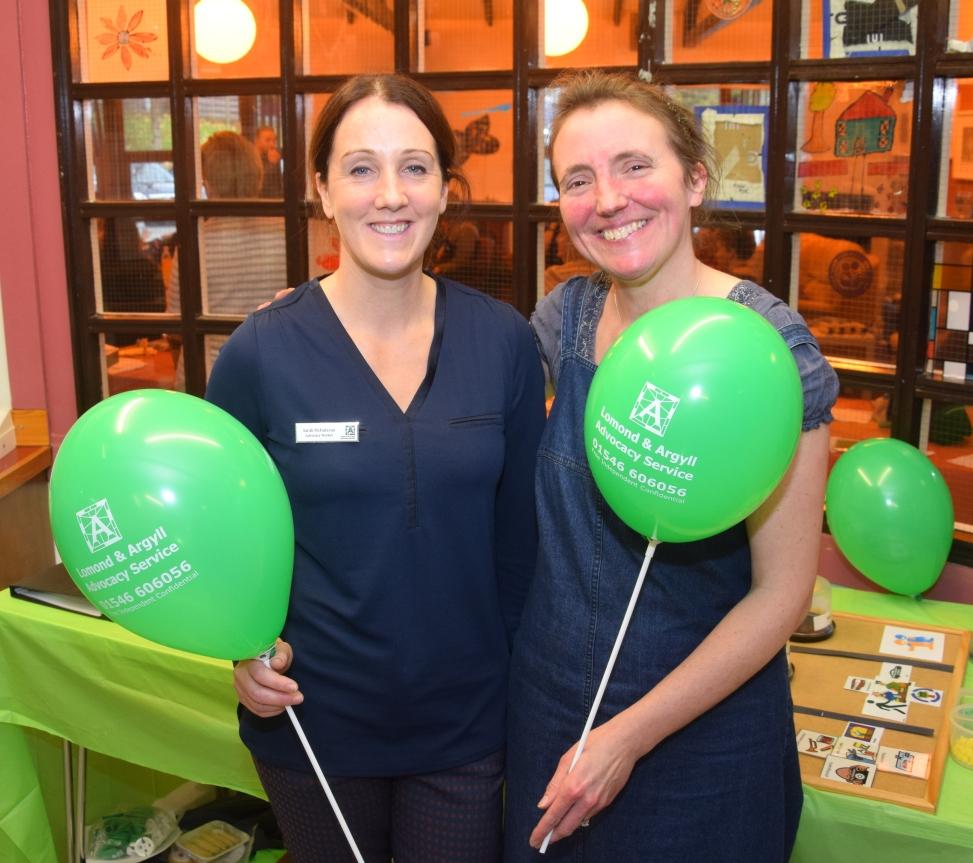 Sarah McFadzean and Lindsay Giffen of Lomond and Argyll Advocacy Service.