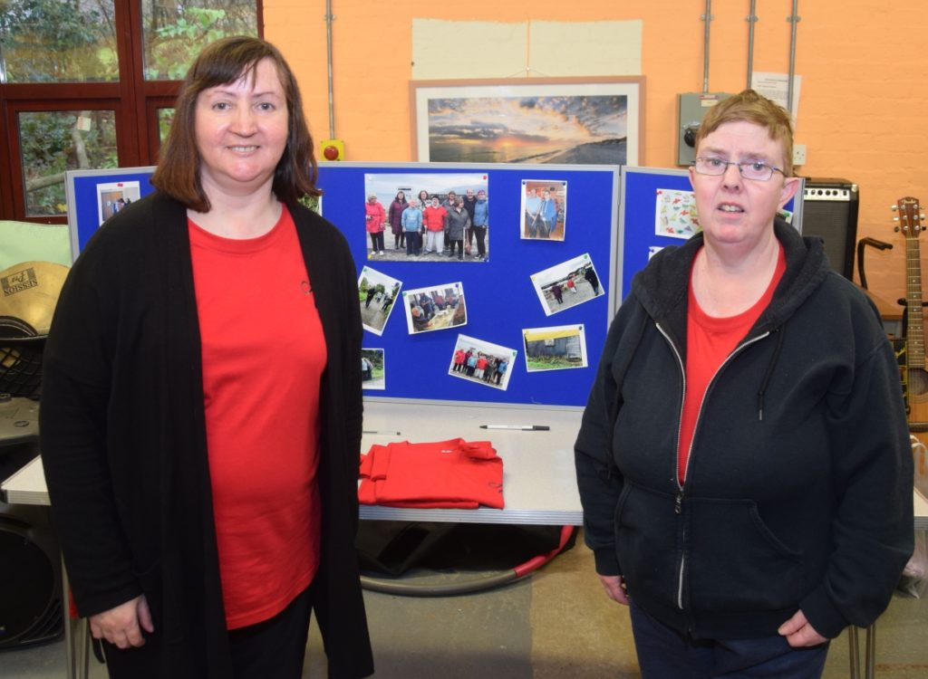 PACTMAK secretary Patricia Crawford and member Lorna MacDonald told people about the charity which promotes communinty involvement for all and aims to tackle loneliness.