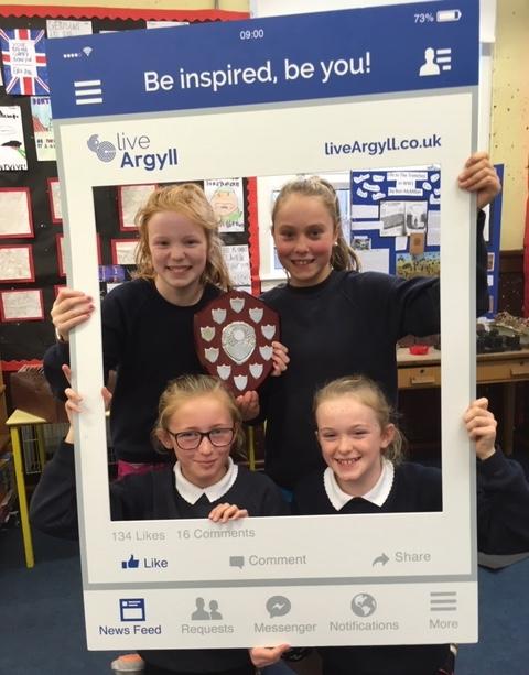 Winning team, 'The Harriers', from Castlehill Primary school.