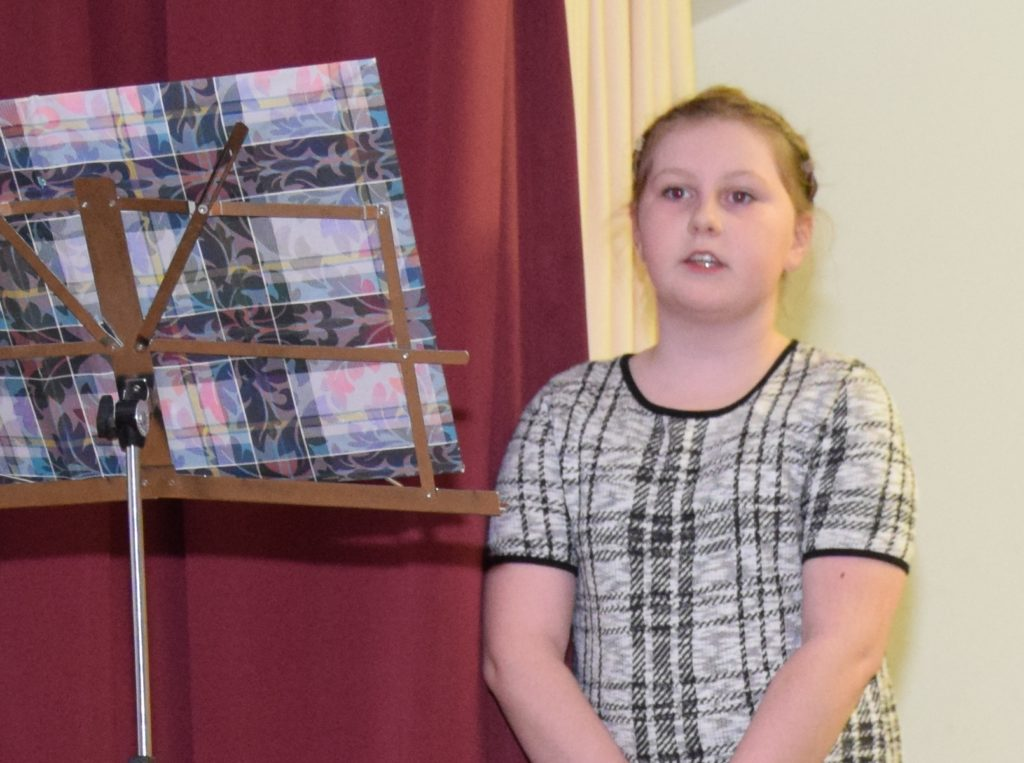 Narrator Louise Hurd stepped for an absent pupil at the last minute.