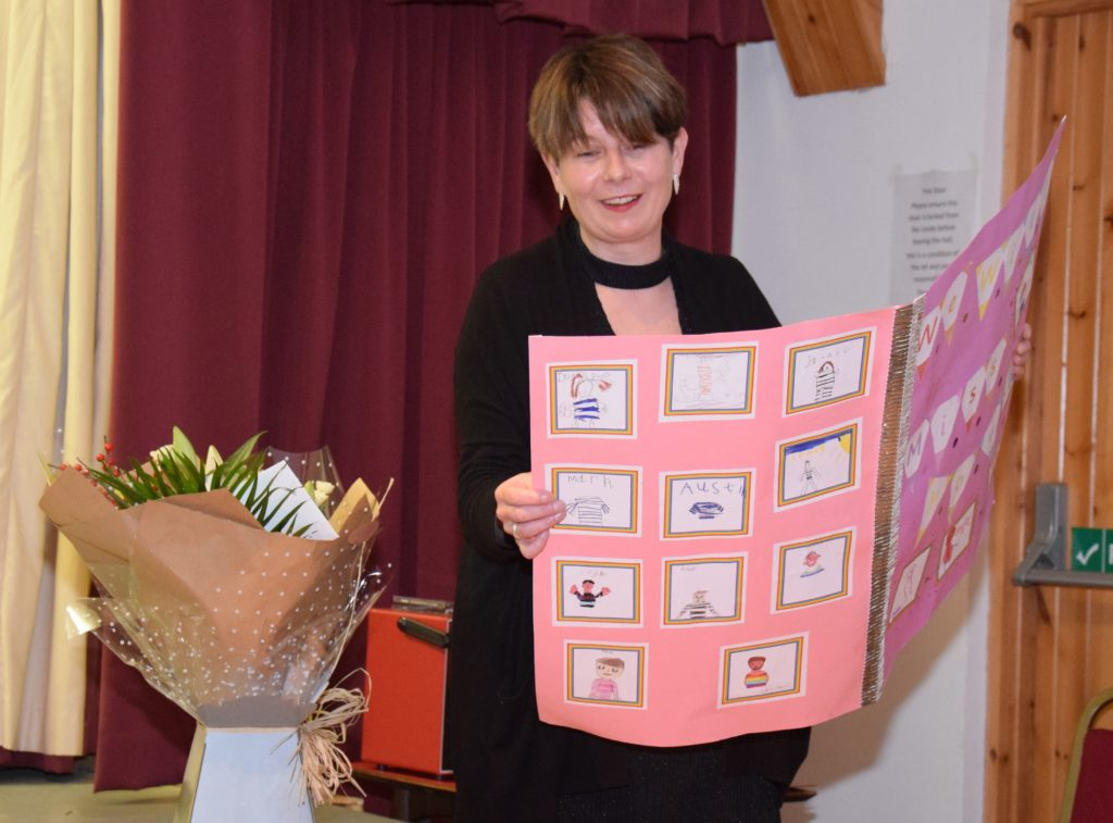Head teacher Ruth Reid is leaving Rhunahaorine after eight years.