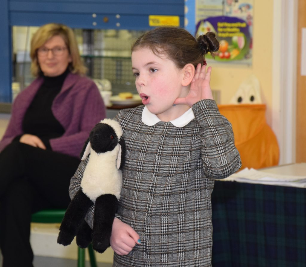 P4 Ashley's performance of 'My Hoggie' was worthy of the stage.
