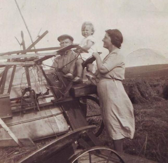 A piece of wartime farm machinery.