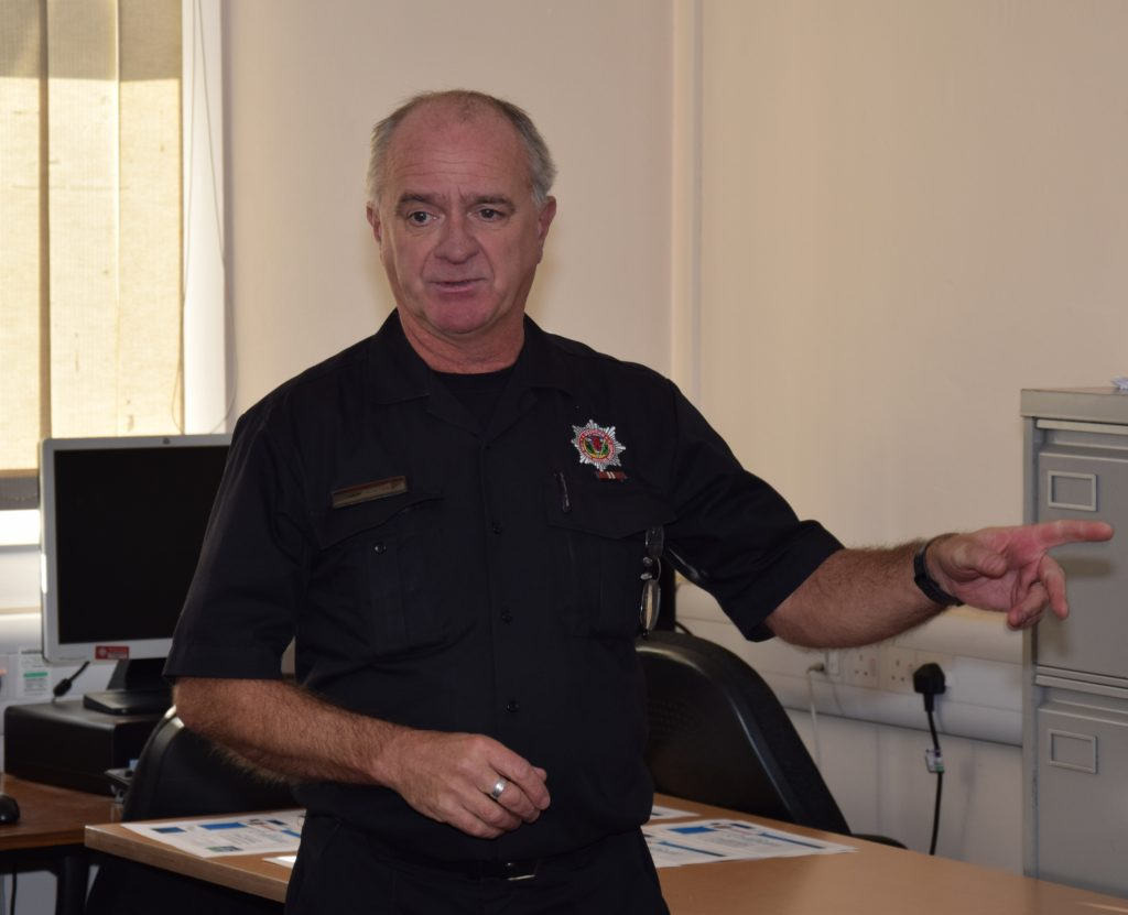 Community fire fighter Iain Hunter led the course.