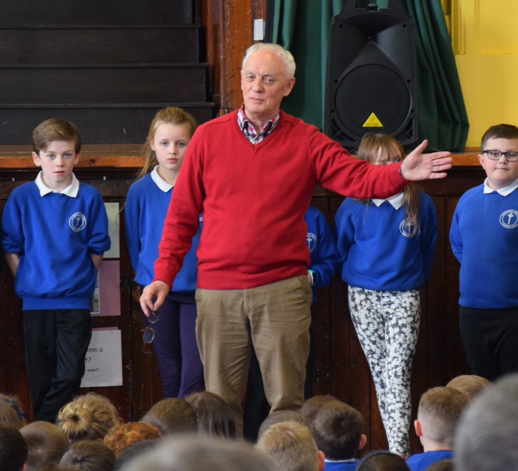 Mr McEwan has been teaching the students Gaelic for eight weeks.