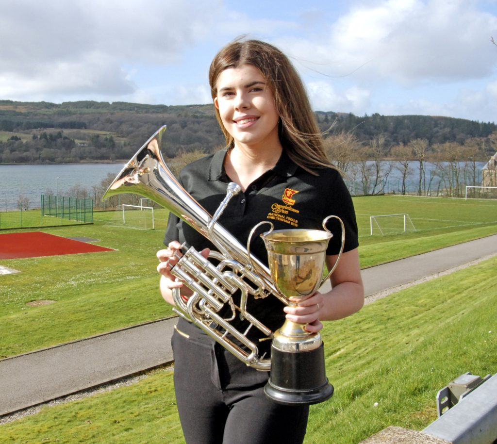 A 'very fine performance' from Amy Paterson won her the top spot in the brass solo (S4 to 6) class.