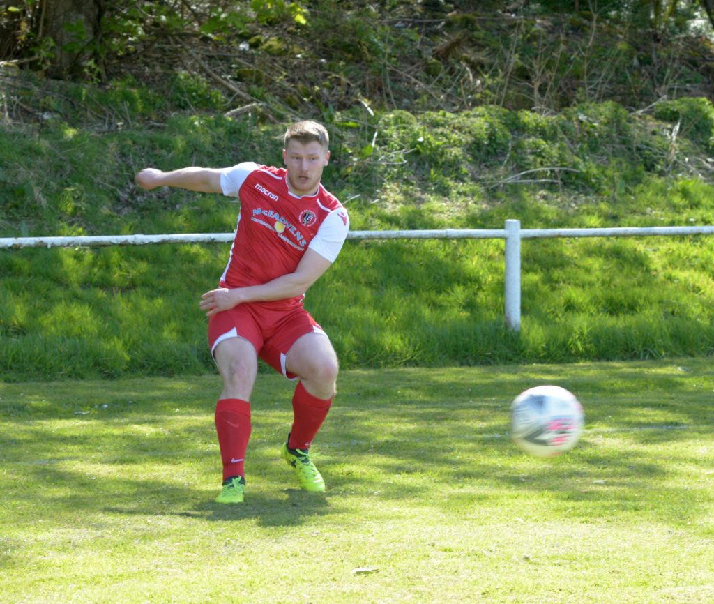 A strike from Martin McCallum was saved by the Hillington keeper in the closing stages of the match.