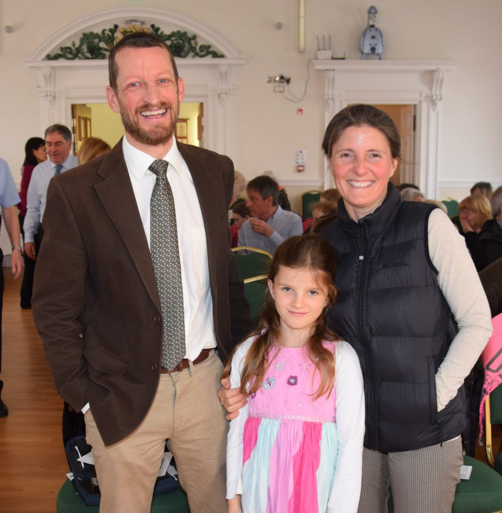 Campbeltown Community Church's new pastor, Mark Jasper, with his wife, Lizzie, and daughter, Hannah Molly.