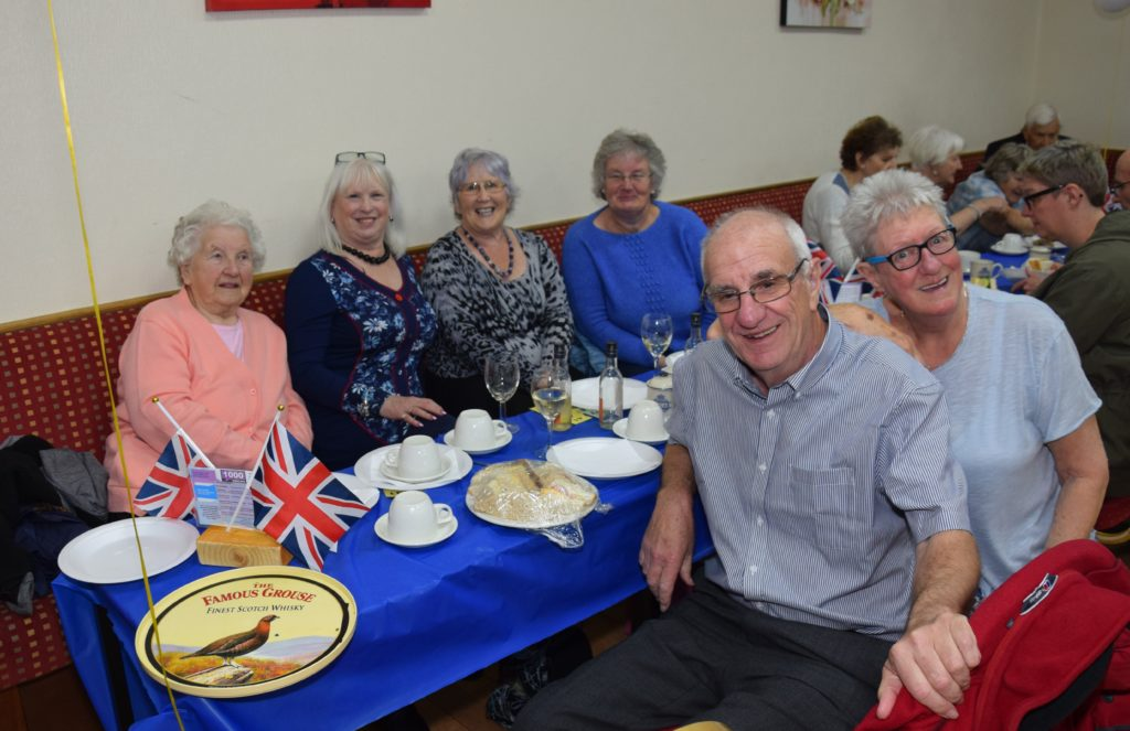 A group from Helensburgh enjoying the Campbeltown hospitality.
