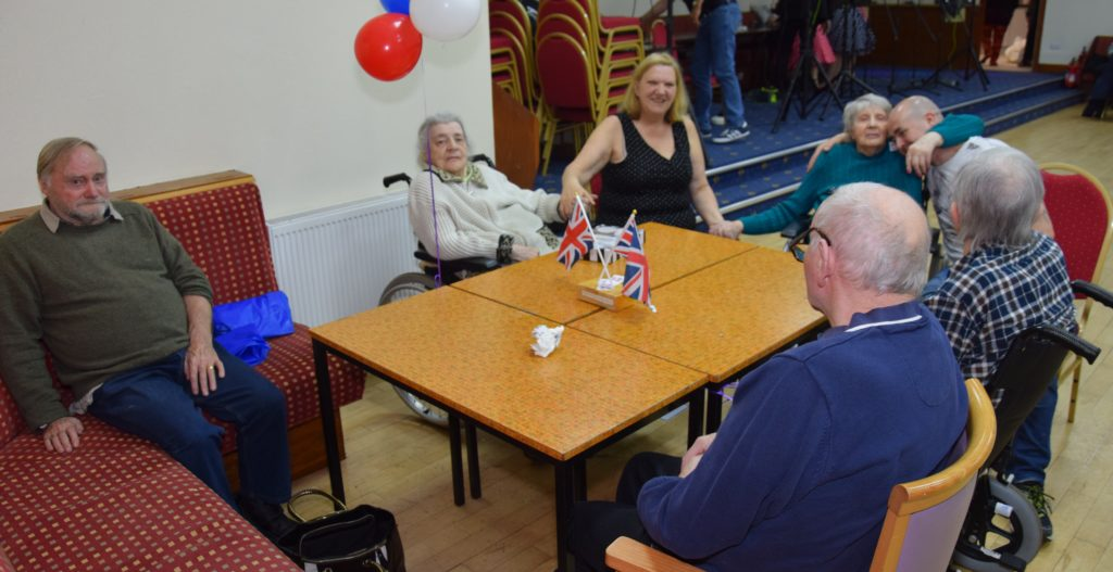 A group of Kintyre Care Home staff and residents enjoyed the atmosphere.
