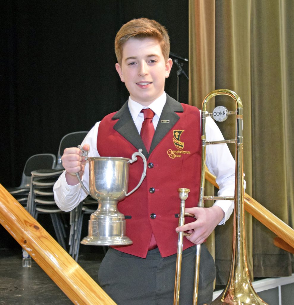 Jamie Colville picked up the Co-operative Membership Cup for the highest mark in solo brass.