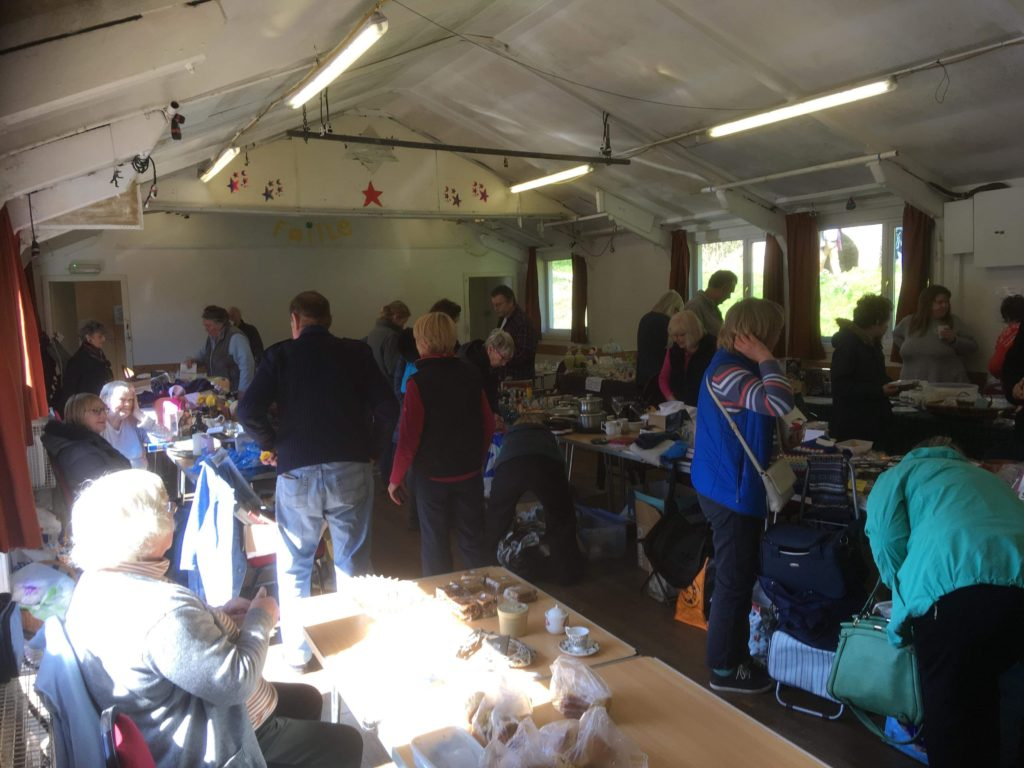 A busy scene at Clachan sale.