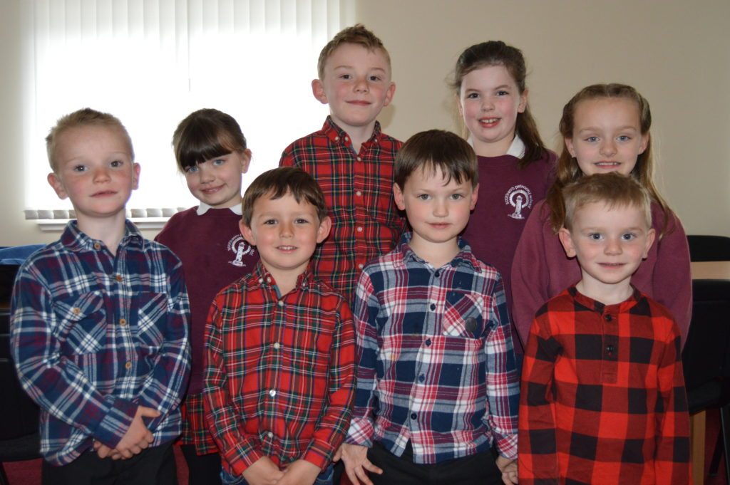 The pre and primary school pupils who stole the show.