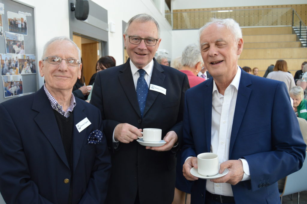 Former teachers Ronald  Togneri, Wiliam Crossan and David McEwan.