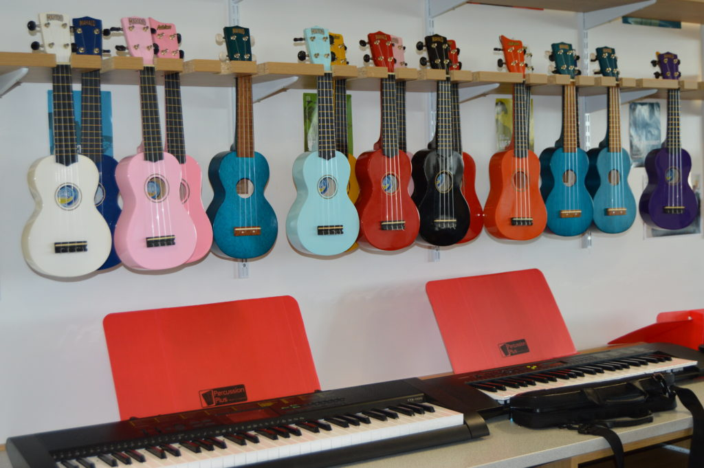 A bright corner of the music department.