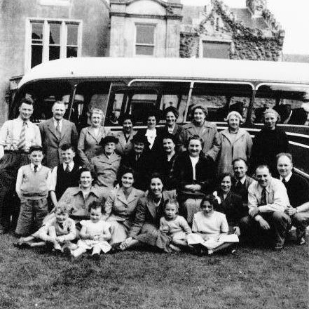 A church outing in the 1950s.