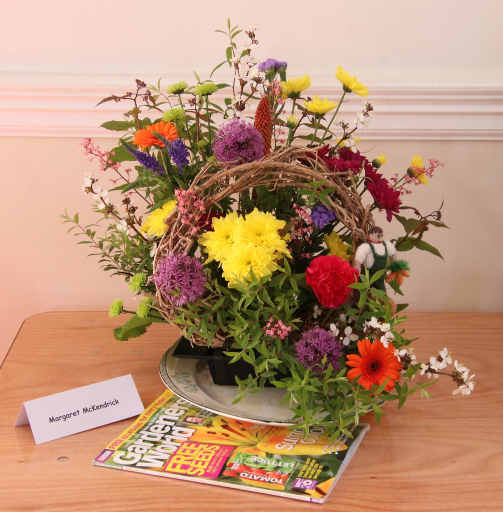 Margaret McKendrick's display was very colourful.