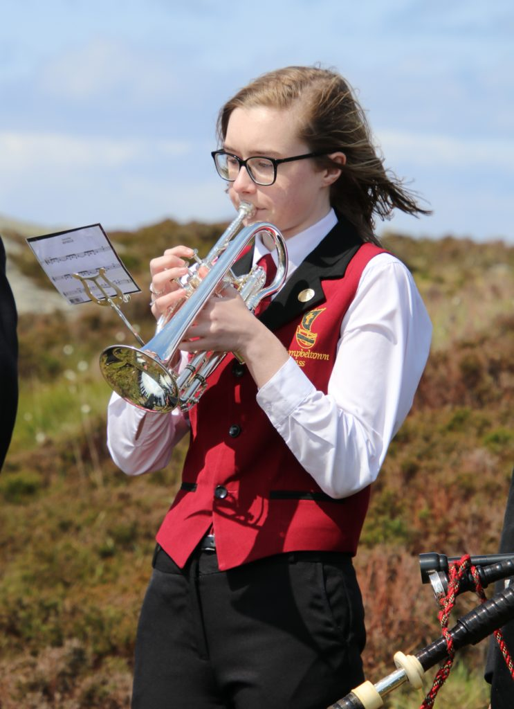 Principal cornet at Campbeltown Brass, Erin McLellan.