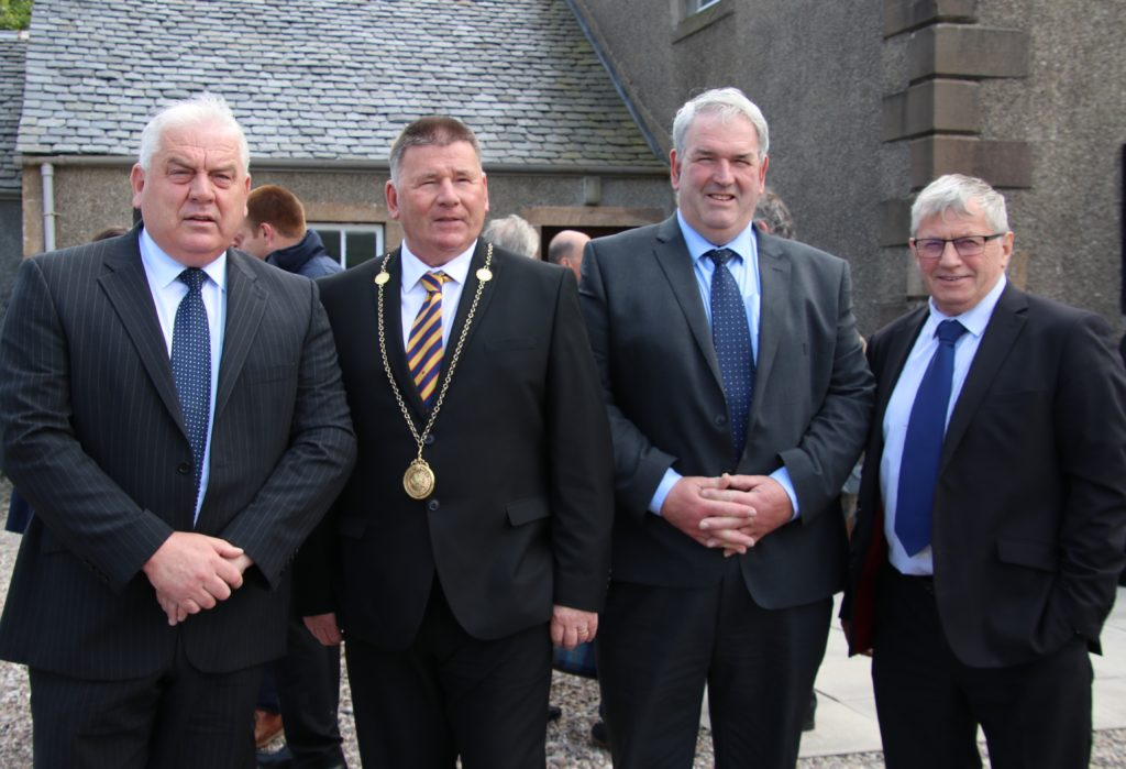 Councillor Donald Kelly, Depute Provost Roddy McCuish, Councillor John Armour and Councillor Rory Colville who attended the services.