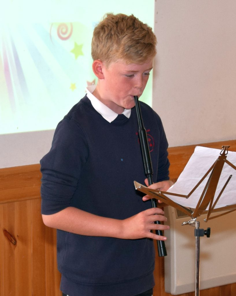 Lewis O'Hanlon performed Highland Laddie on the chanter.